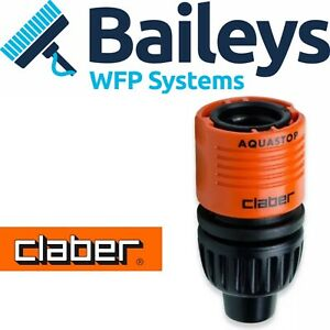 Claber 8mm Hose Connector with AQUASTOP Window Cleaning Water Fed Pole