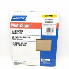 PACK OF 25 NORTON SANDING SHEET ASSORTED GRITS
