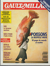 GAULT MILLAU  magazine - mars 1989 - Poissons
