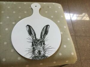Melamaster Chopping Board New White With Hare Picture On