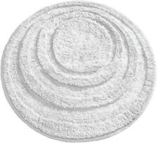 mDesign Soft Microfiber Polyester Non-Slip Round Spa Mat, Plush Water Absorbent