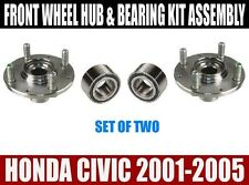 Honda Civic Front Wheel Hub And Bearing Kit Assembly 2001-2005  SET OF TWO