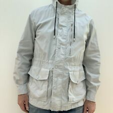 Five Four Mark Mcnairy Mens Trench Coat/ Lightweight Spring Jacket-M Grey
