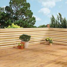 15 Ft Brown Stripe Heavy Duty Waterproof Deck & Fence Privacy Netting Screen