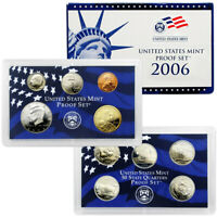 2006 US MINT PROOF SET - BOX, COA 10 COINS