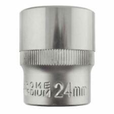 "24mm 1/2"" Dr Socket Super Lock Metric Shallow CRV Knurl Grip 6 Point TE796"