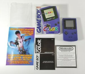 Nintendo Gameboy Color Grape Boxed Complete + Inserts + Instructions  Colour