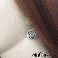 bijou fantaisie animaux oiseaux Boucle d'oreille pendentif : Le cygne de Bella