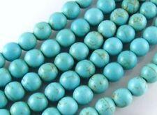 4mm Perles bleu dinde turquoise gemme rond lâche,38cm