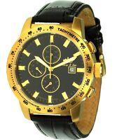 Lindberg & Sons Chronograph Stoppfunktion Datum Tachymeter Quarzuhr Herrenuhr