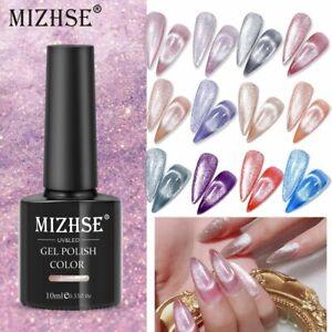 Magnetic Nail Polish Gel Bright Silver UV Hybrid Varnishes Cat Eye Soak Off 9D