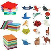 5/7/8/10/14.5cm Square Origami Wish Paper Double Sided Sheets Crane Craft DIY