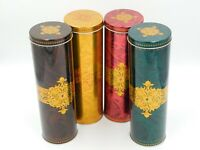 """Four 12""""  TALL STOCK MEYER EMPTY TINS Mint Condition Pre -owned"""