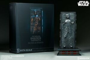 Han Solo in Carbonite 1/6 Sixth Scale Figure Star Wars Hot Toys Sideshow NIB