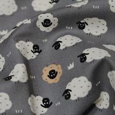 "Cotton Fabric BH Nordic Baby Sheep Grey B1195 By The Yard 44"" laceking2013"