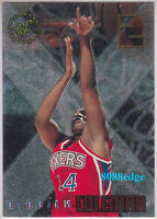 1995-96 TOPPS STADIUM CLUB X-2: DERRICK COLEMAN #X7 SIXERS ETCHED FOIL INSERT