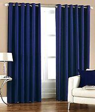 Eyelet Polyester Door Curtain Blackout Room Darkening Solid Curtain 5/7/9 Feet