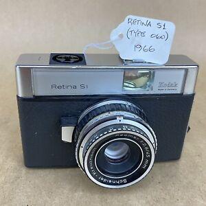 Kodak Retina S1 (Type 060) 1966 Vintage 35mm Film Camera W/ 45mm 2.8 Reomar
