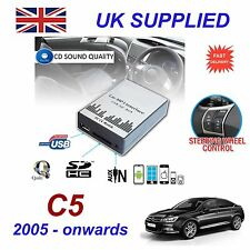 For Citroen C5 MP3 SD USB CD AUX Input Audio Adapter Digital CD Changer ModuleR4