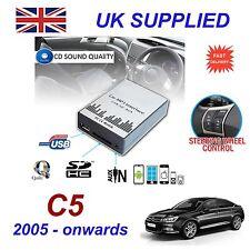For Citroen C5 MP3 SD USB CD AUX Input Audio Adapter Digital CD Changer ModuleR4