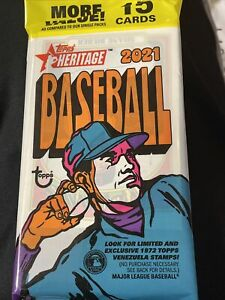 2021 Topps Heritage Baseball - Sealed Value Fat Pack (15 Cards)