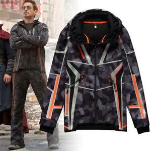 Avengers Iron Man Tony Stark Cosplay Hoodie Sweatshirt Thick Cotton Jacket Pants