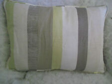 "JOHN LEWIS FABRIC PURITAN STRIPE OBLONG CUSHIONZIP OFF 20"" X 14 ""(51 CM X 36CM)"