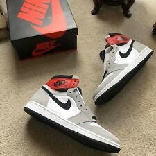 Nike Mens Air Jordan 1 Retro High OG Light Smoke Grey Red White AJ1 555088-126