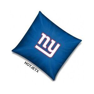 NEW YORK GIANTS PILLOW OFFICIAL TOSS NFL FOOTBALL BED SHEET SOFA SUPERBOWL HD TV
