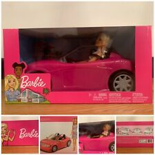 Barbie Doll Barbie Convertible Car And Barbie Doll Set New 3+ Years