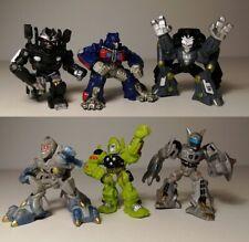 Película Transformers Robot Heroes Lote 2 Barricada, Optimus Prime, Megatron +2 más