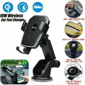Qi Wireless Car Charger Auto Clamping Mount Fast Charging Air Vent Phone Holder