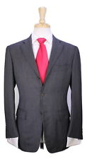 * RING JACKET * Japan Bespoke Handmade Gray Birdseye 3-Btn Luxury Wool Suit 38R