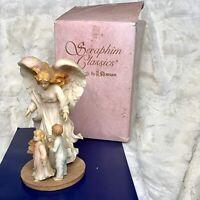 "Vintage 1996 Seraphim Classics Tamara  Blessed Guardian Angel #78070 9"" Tall"