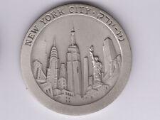 Israel State Medal:Silver * Tel-Aviv New York * 1991, 50mm