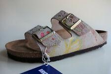 new BIRKENSTOCK Leather Sandals Slides ARIZONA Flower Crush Beige US8 EU39 UK6 N