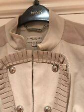 Karen Millen Cream Cotton Smart Casual Jacket Size 12 Fully Lined Dry Clean Only