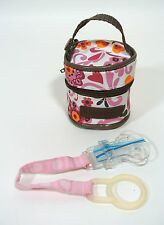 Baby Girl Pacifier Case Holder and Clip for Diaper Bags fits Dr.Brown Pacifiers