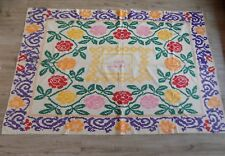 Vtg interesting Handwoven thin Cotton Rug 1950s Ukraine 1,25x2m Great condition