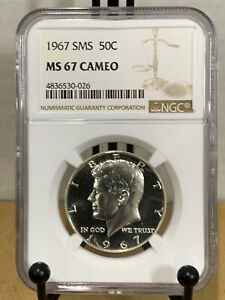 1967 Kennedy SMS Half Dollar MS67 CAMEO Mint State 67