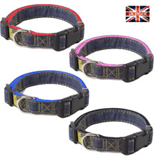 Dog Cat Collar Nylon Adjustable Collars Colourful UK Pet Accessories S M L XL