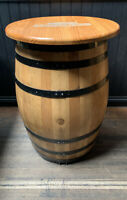 MAGNERS LARGE WOODEN BARREL TABLE. Man Cave/Bar. Used.