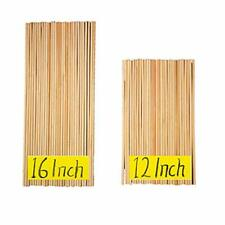 12 Inch Long and 16 Inch Long Natural Blank Round Unfinished Bamboo Dowel