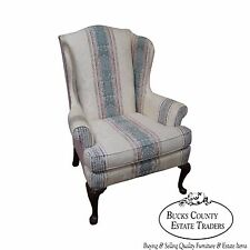 Highland House Hickory 18th Century Style Queen Anne Wing Chair