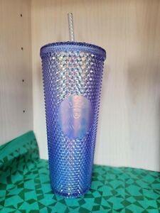 Starbucks Taiwan 2021 Krypton Blue Quartz Aurora Studded Tumbler Cup 24 oz NEW!