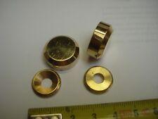 2 cache vis plat 20 mm laiton poli (réf LA20Pbis)