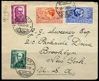 SWITZERLAND MICHEL#314/14 FIRST DAY COVER UPPER RIGHT CORNER OF ENVELOPE MISSING
