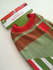 NEW Size M DOG SWEATER Christmas Ugly Knit Crochet Red Green White Holiday