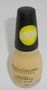 SINFUL COLORS Nail Color Polish GLOW IN THE DARK 1353
