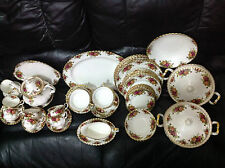 Royal Albert Old Country Roses cena, Tea & sopa golpes de Estado servicio para seis personas